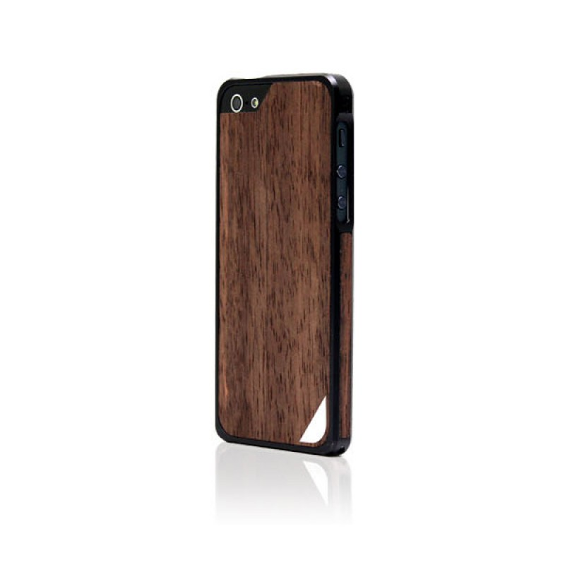 Coque bumper de protection pour iPhone SE, 5 et 5S - Alloy X Wood Black