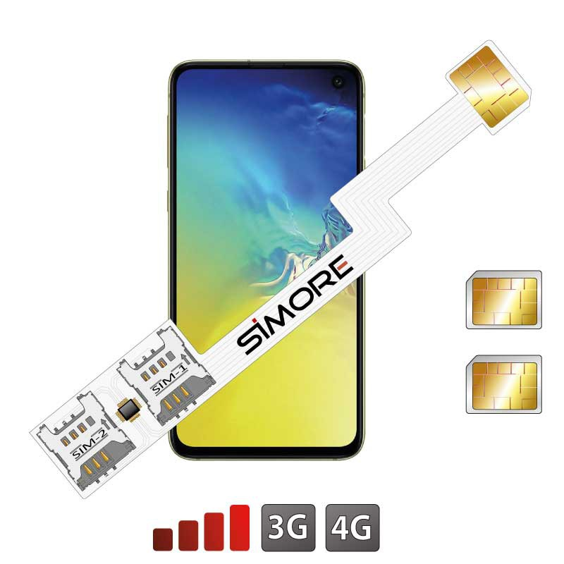 Galaxy S10e adaptateur double sim android SIMore