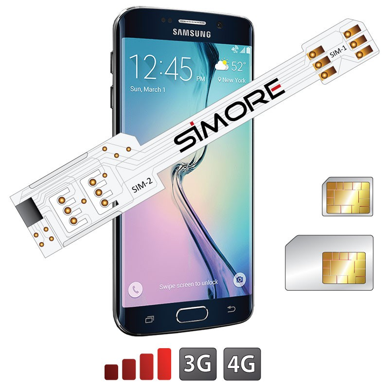 WX-Twin Galaxy S6 Edge Adaptateur double carte SIM 4G pour Samsung Galaxy S6 Edge