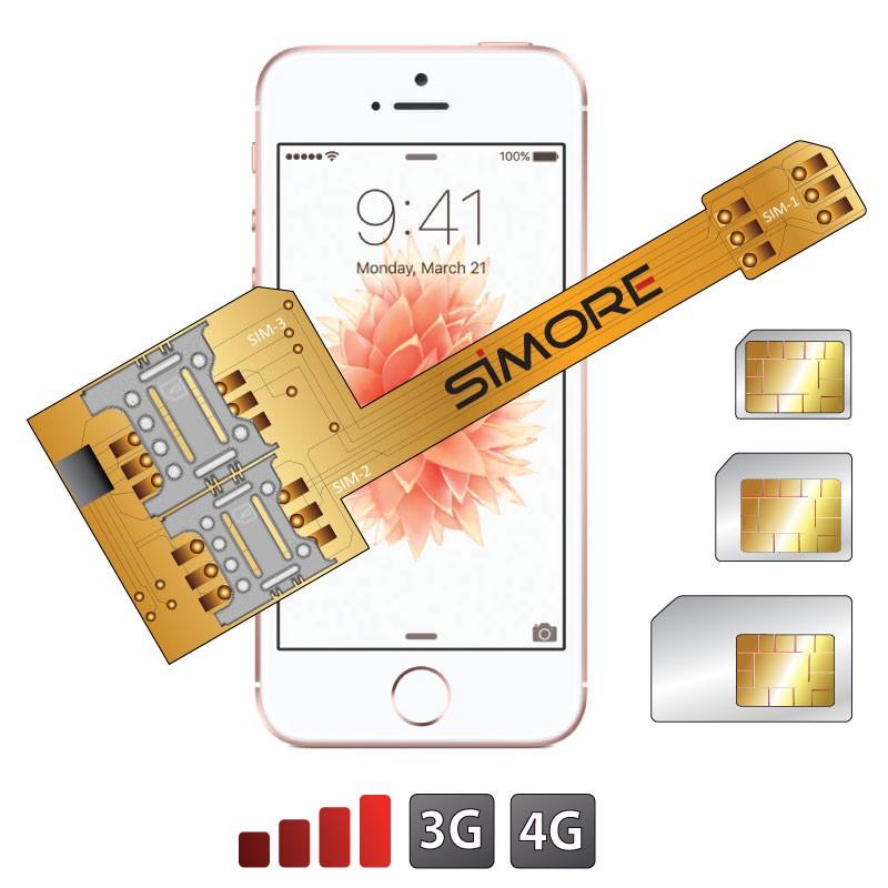 X-Triple SE Adaptateur double triple carte SIM pour iPhone SE