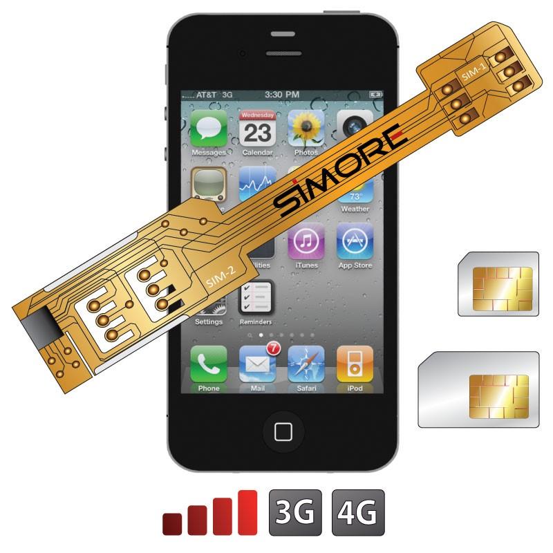 X-Twin 4 Adaptateur double carte SIM pour iPhone 4 et iPhone 4S