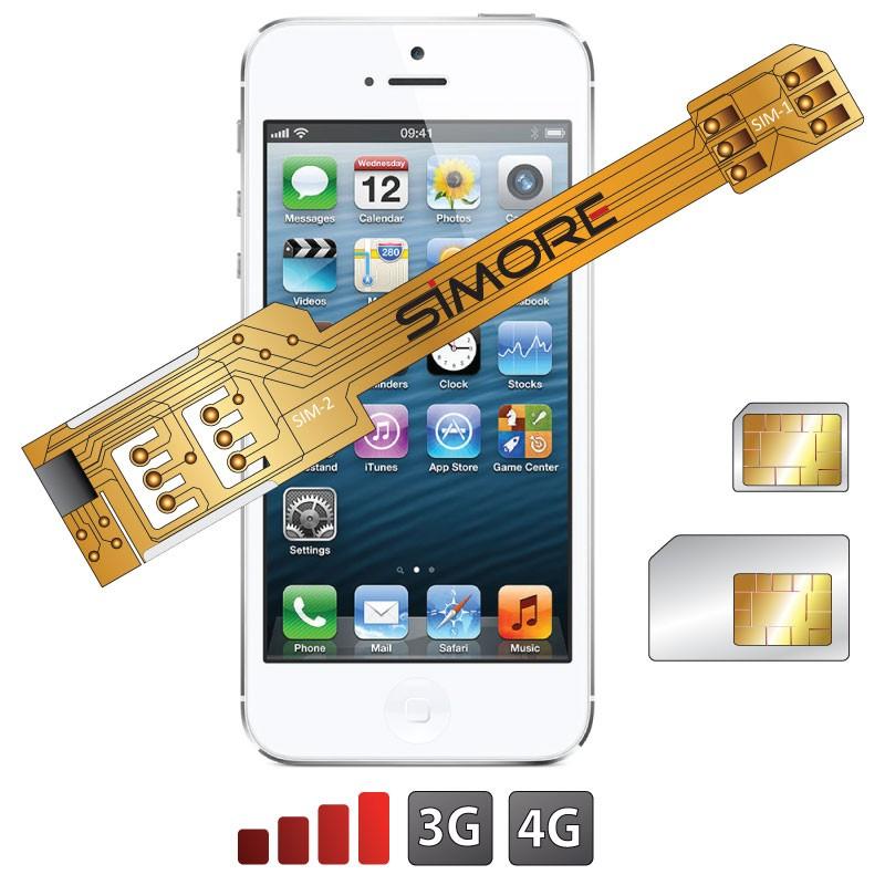 X-Twin 5S Adaptateur double carte SIM pour iPhone 5S