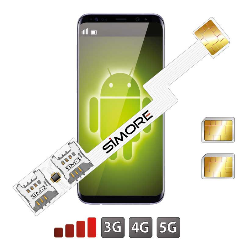 Double SIM Android Adaptateur Speed ZX-Twin Nano SIM