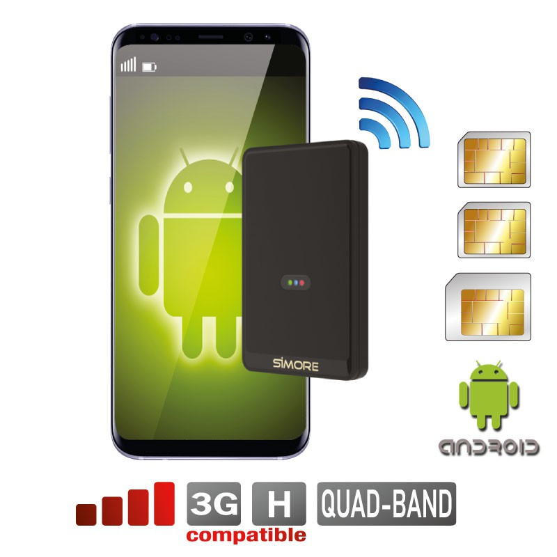 adaptateur Double SIM Bluetooth Android simultané Quadri-bande et routeur MiFi Wi-Fi cellulaire Multi-sim