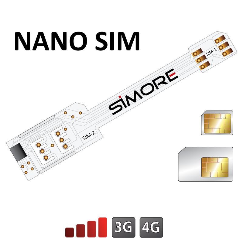 WX-Twin Nano SIM Adaptateur double carte SIM pour smartphones Nano SIM
