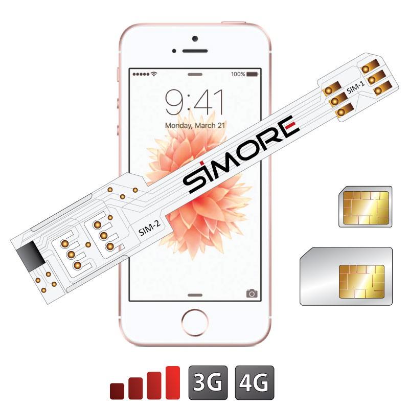 QS-Twin SE Coque adaptateur dual SIM pour iPhone SE