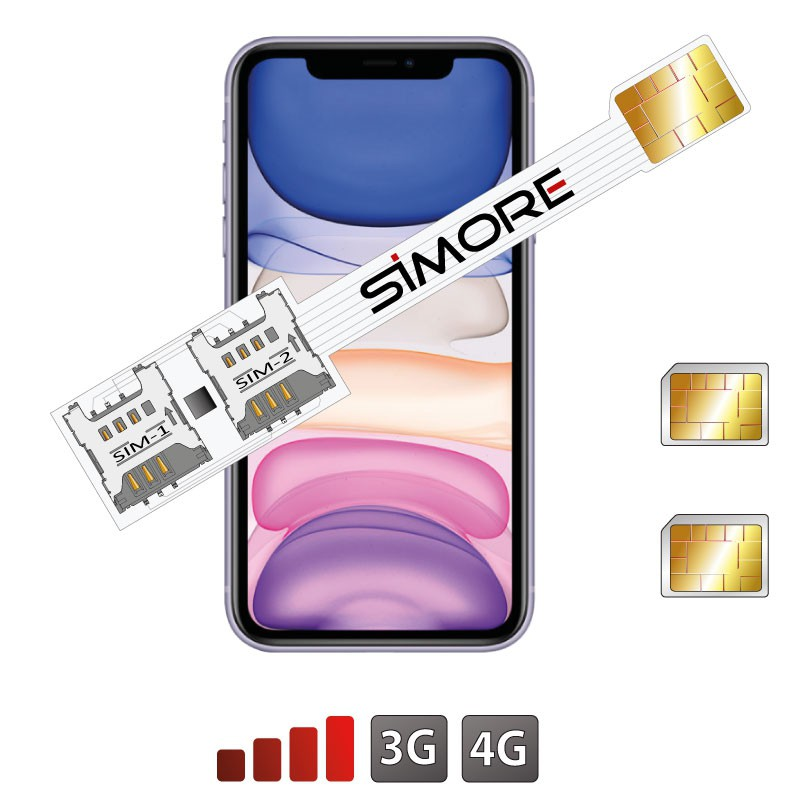 Double SIM iPhone 11 adaptateur SIMore Speed Xi-Twin 11