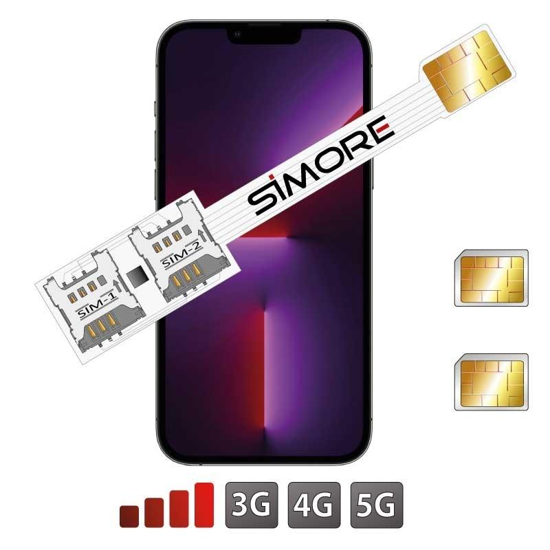 iPhone 13 Pro Max Double SIM avec l'adaptateur SIMore Speed Xi-Twin 13 Pro Max