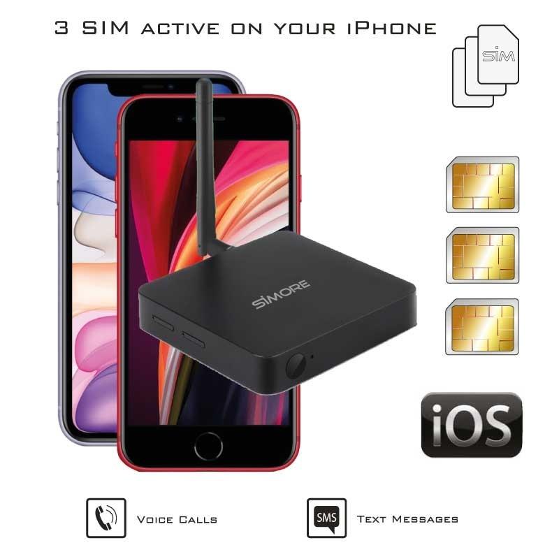 iPhone double sim actif routeur adaptateur DualSIM@home 4G
