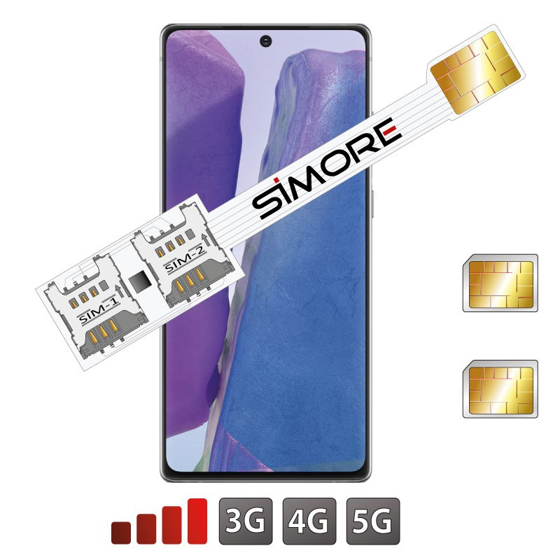 Galaxy Note20 Double SIM Adaptateur SIMore Speed Xi-Twin