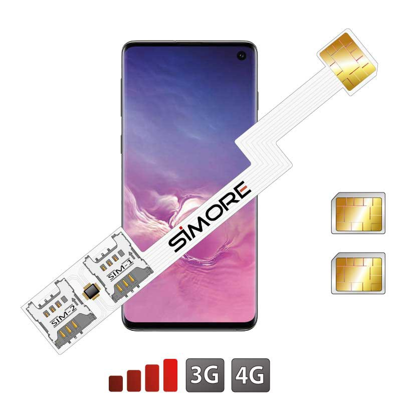 Galaxy-S10 adaptateur double SIM android SIMore Speed ZX-Twin S10