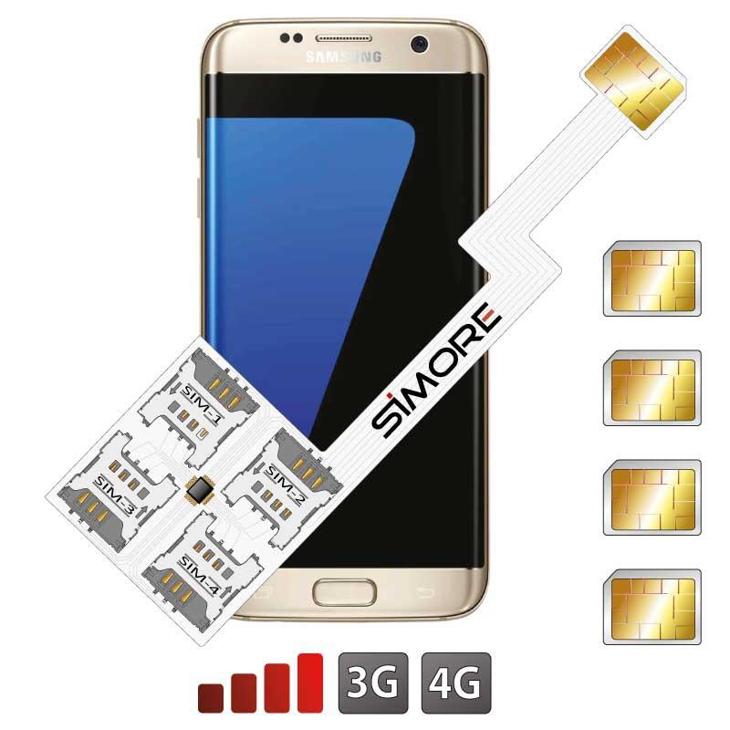 Galaxy S7 Edge Adaptateur Quadruple Double SIM Android pour Samsung Galaxy S7 Edge