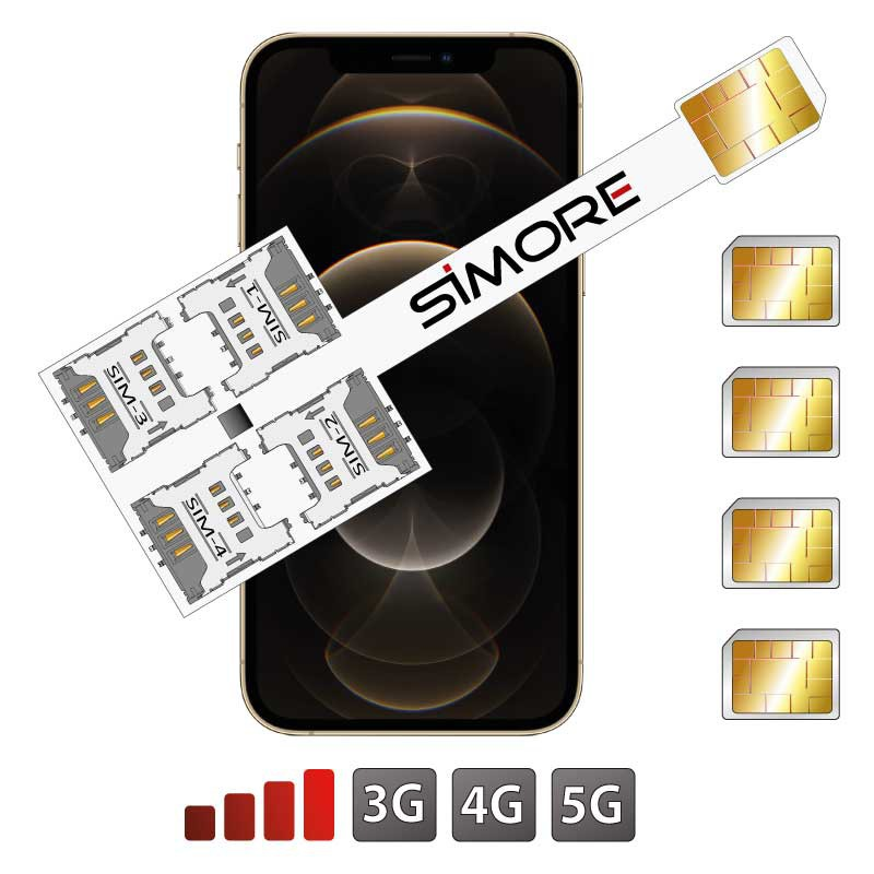 iPhone 12 Pro Max Quadruple SIM Adaptateur SIMore