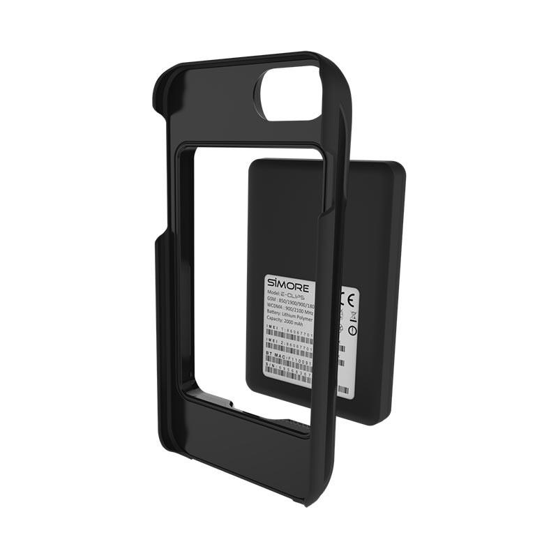Coque dual sim de protection maximal pour iPhone 8, 7, 6S, 6 compatible avec l'adaptateur multi SIM Bluetooth Wifi hotspot E-Clips Box