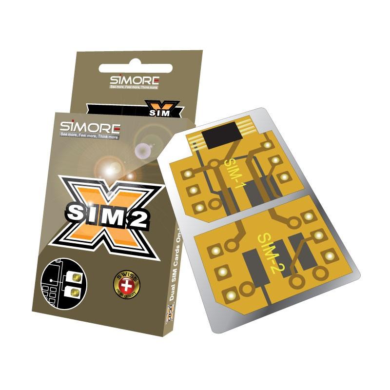 DualSim Gold 1 Adaptateur Double SIM carte pour téléphones mobiles