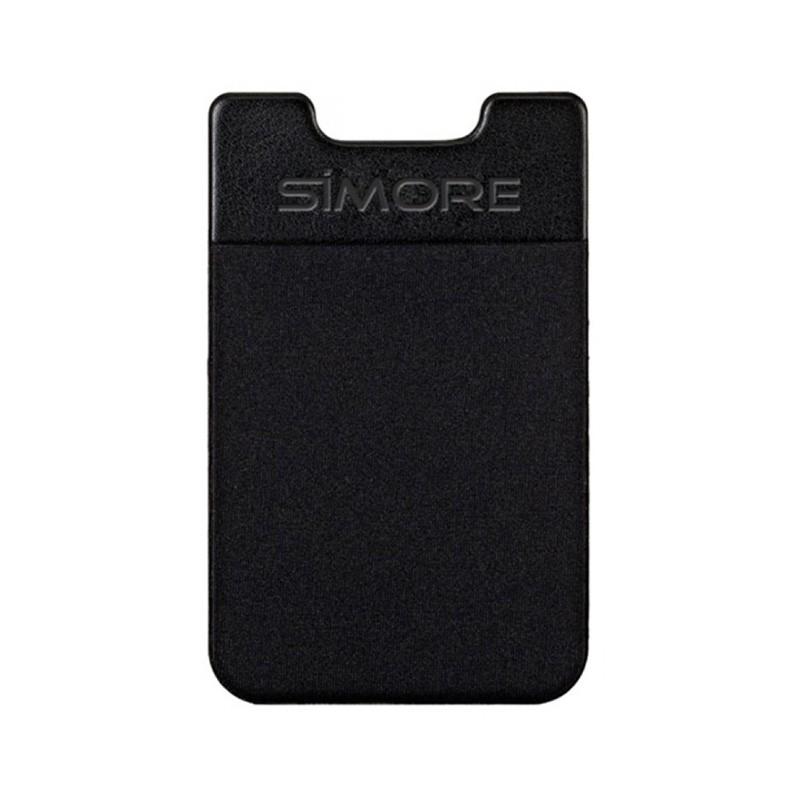 Pochette adhésive SIMore Black pour téléphones mobiles