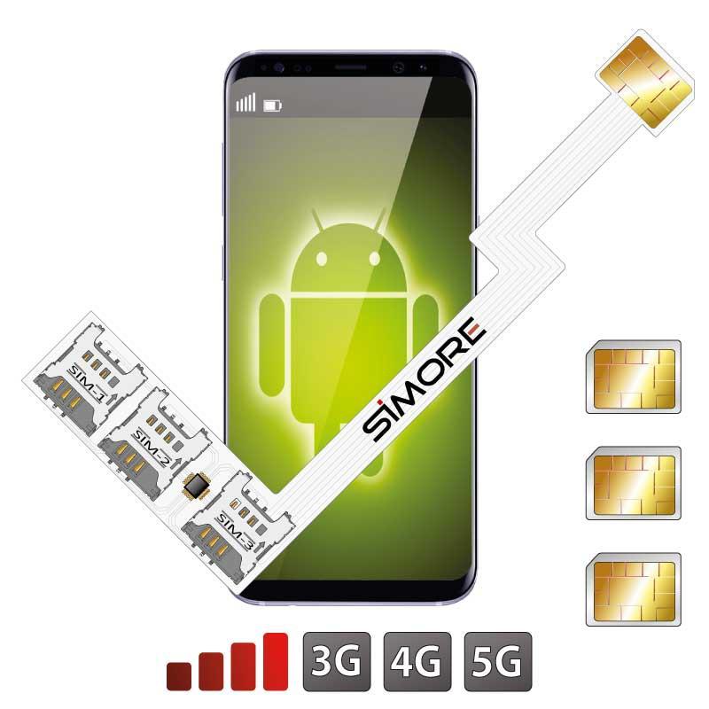 Triple SIM Android adaptateur Nano
