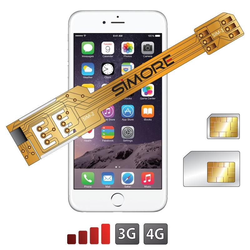 X-Twin 6 Adaptateur double carte SIM pour iPhone 6