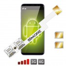 Android Adaptateur Double SIM 4G Speed ZX-Twin Nano SIM