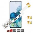 DUAL SIM Adaptateur pour Samsung Galaxy S20