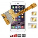 X-Triple 6 Adaptateur double triple carte SIM pour iPhone 6