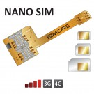 Adaptateur Triple Double SIM pour smartphone Nano SIM