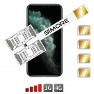 iPhone 11 Pro dual quadruple SIM adaptateur SIMore Speed X-Four 11 Pro