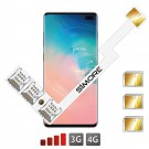 Galaxy S10+ Adaptateur Triple Dual SIM Android pour Samsung Galaxy S10+