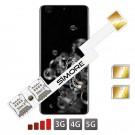 DUAL SIM Adaptateur pour Samsung Galaxy S20 Ultra 5G