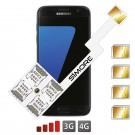 Galaxy S7 Adaptateur Quadruple Double SIM Dualsim Android pour Samsung Galaxy S7