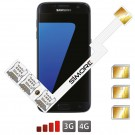 Galaxy S7 Adaptateur Triple Double SIM Android pour Samsung Galaxy S7