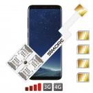 Galaxy S8 Adaptateur Quadruple Dual SIM Android pour Samsung Galaxy S8
