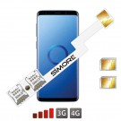 Galaxy S9+ adaptateur double carte SIM SIMore