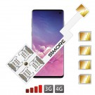 Galaxy S10 Double quadruple adapter SIMore Speed ZX-Four S10