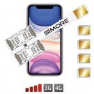 iPhone 11 multi dual sim adaptateur SIMore Speed X-Four 11