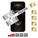 iPhone 12 Pro Max Quadruple SIM Adaptateur SIMore