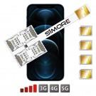 iPhone 12 Pro Quadruple SIM Adaptateur Multi SIM