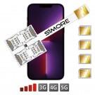 iPhone 13 Pro Max Multi SIM double adaptateur SIMore Speed X-Four 13 Pro Max