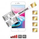 iPhone 8 Plus Adaptateur quadruple SIM Multi SIM Speed X-Four 8 Plus pour iPhone 8 Plus