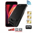 iPhone SE 2020 Adaptateur Triple Dual SIM simultané + coque de protection E-Clips Box Pack