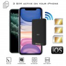 iPhone Double SIM adaptateur bluetooth avec 2 ou 3 numéros actifs simultanéement et Wi-Fi routeur E-Clips Gold