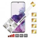 Galaxy S20+ Multi Quadruple Dual SIM pour Samsung Galaxy S20 Plus