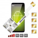 Quadruple Multi SIM Android Adaptateur Speed ZX-Four Nano SIM
