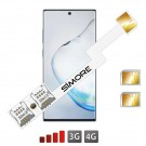 Galaxy Note 10 double SIM adaptateur SIMore Speed ZX-Twin Note 10