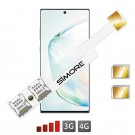 Galaxy Note 10+ double SIM adaptateur SIMore Speed ZX-Twin Note 10 +