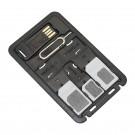 Porte cartes SIM et cartes SD + lecteur carte Micro SD format carte de crédit SIMore