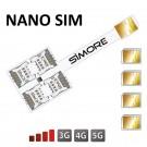 Quadruple SIM Adaptateur pour smartphones Nano SIM Speed X-Four Nano SIM