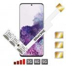 Galaxy S20+ Triple Double SIM Adaptateur pour Samsung Galaxy S20 Plus