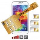 X-Triple Galaxy S5 Adaptateur triple double carte SIM pour Samsung Galaxy S5