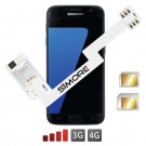 ZX-Twin Galaxy S7 Adaptateur double carte SIM 4G pour Samsung Galaxy S7